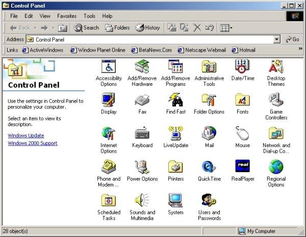 Windows 2000 - Screenshot 2