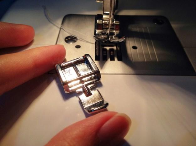 zipper foot making a zippered pocket