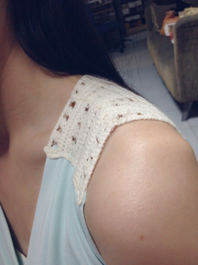 how to shorten/alter your dress strap