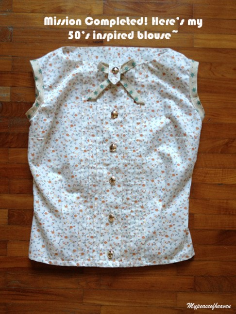 craftsy sewing 50's inspired blouse