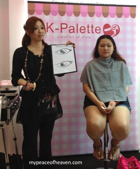 K-Palette Makeup Demonstration Event Sasa Singapore