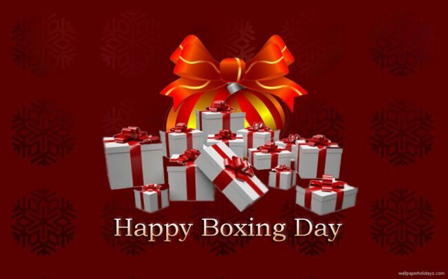 The Day After — December 26th — it's Boxing Day!