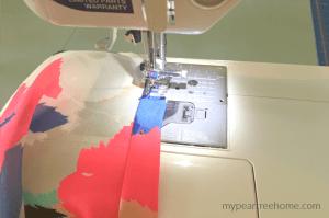 infinite scarf tutorial-sewing hem