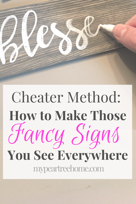 Cheater Method: How to Make a DIY Sign