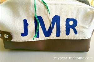 Try out this easy method for making your own monogram in minutes! Tutorial in post!
