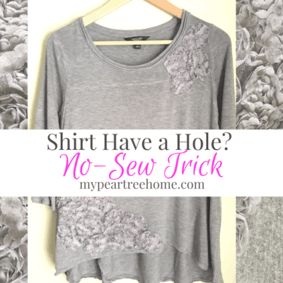 Wait! Don't throw your shirt out if it gets a hole or stain! Use this NO-SEW trick! It takes 10 minutes-Your wallet will thank you!