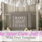 Love those fall signs you see at Hobby Lobby & Home Goods? Now you can make your own! This method is SO easy! Click to see the no-fail tutorial!