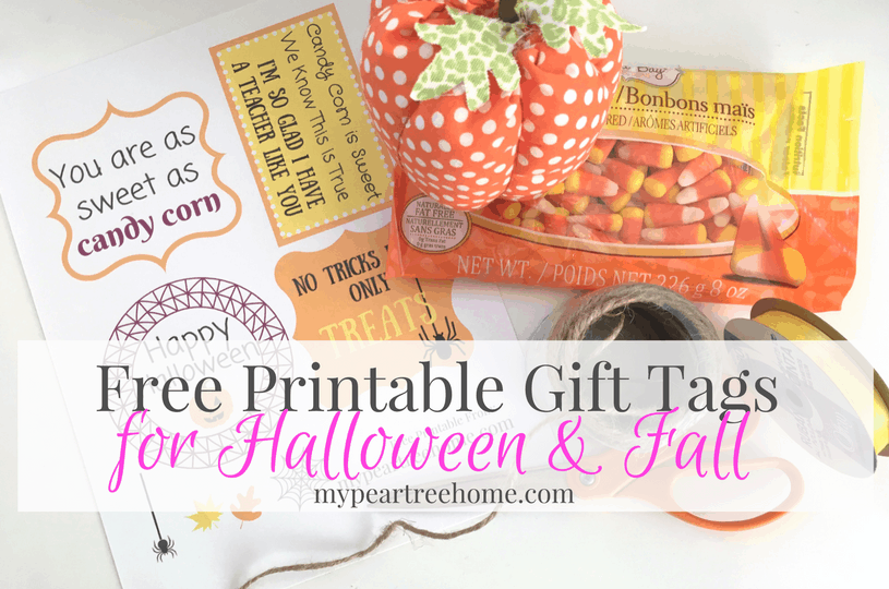 Free printable gift tags for fall halloween my pear tree home free printable gift tags looking for an easy fall or halloween gift idea for a teacher coach family negle Gallery