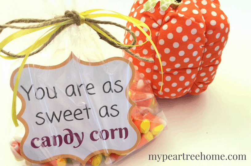 Looking for an easy fall or Halloween gift idea for a teacher, coach, family member, or friend? This is an easy and cheap treat to put together! All you need is candy corn and these adorable FREE printable gift tags! Click to the post!