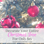 Decorate Your Christmas Tree On a Budget