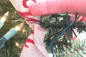"""Love a beautiful Christmas tree, but don't like the cost of all of the ornaments? Look no further! What would you say if I told you that you could decorate your WHOLE tree for $15?! Say what!? Click to the post to see! """"I triple dog dare you!"""""""