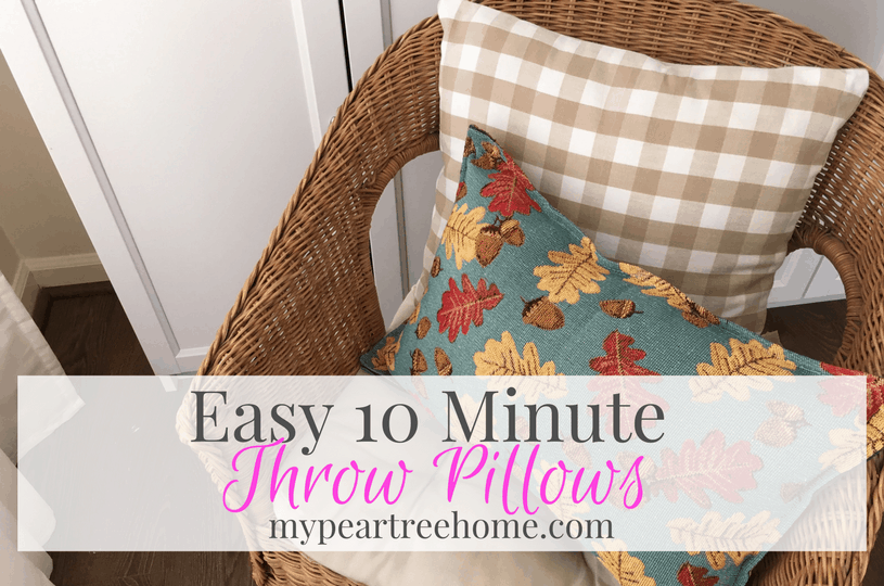 10 minute throw pillows my pear tree home