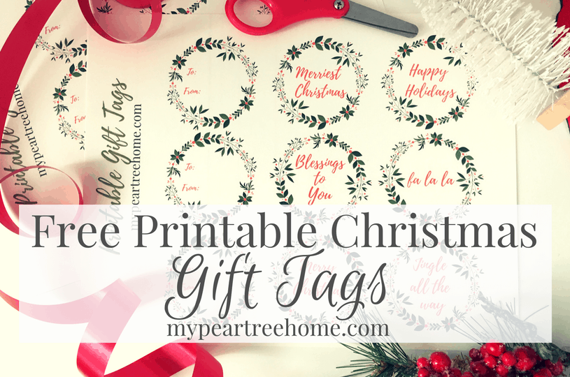 image about Christmas Tag Printable identify Printable Xmas Present Tags Fairly Bow Manual My