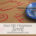 DIY Scroll & Christmas Mantle Decor