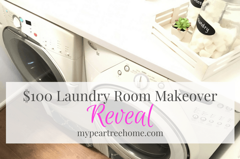 You wouldn't believe what $100 can do for your laundry room! Click to the post to see the SHOCKING before and afters! You won't believe this is the same home!
