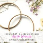 """DIY Hoop Wreath (aka """"Easiest Wreath EVER"""")"""