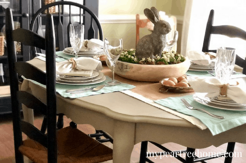 Simple Easter tablescape ideas
