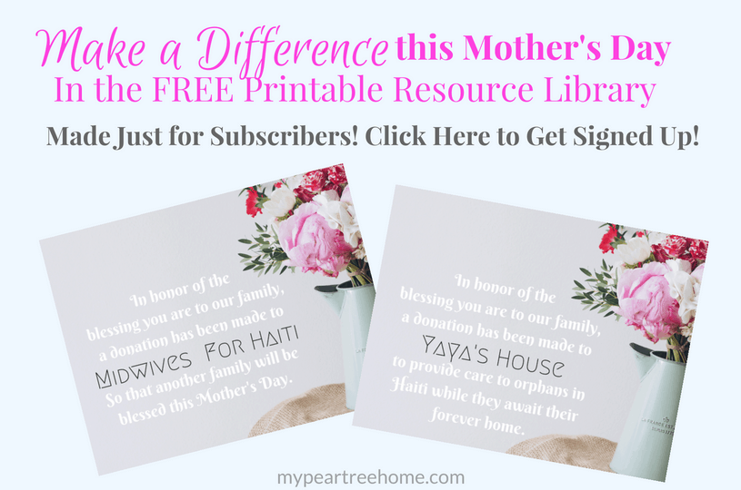 Need a unique idea for Mother's Day that will not only honor the recipient, but also help other mothers as well? Click to the post to read more!