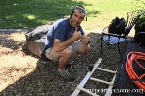 make your own blanket ladder for $5