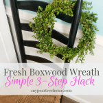 Make a Fresh Boxwood Wreath