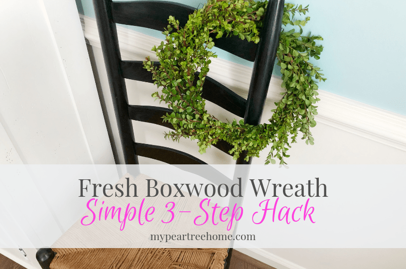 Want to add a farmhouse look to your house on the cheap? Make a boxwood wreath with stems from Trader Joe's. Just 3 steps and you have a new wreath to add to your decor.