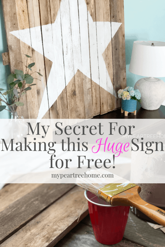 Make a large wooden sign for free!