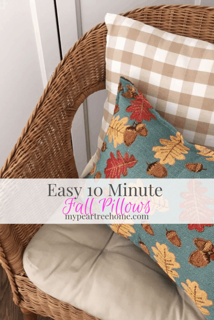 Do you love throw pillows? Check out this blog post where I spill my secret for making these 2 pillows in less than 10 minutes!