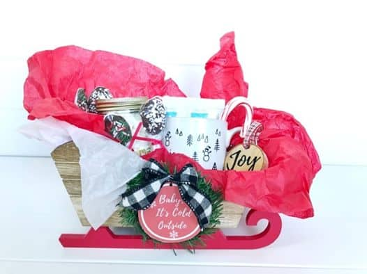 hot chocolate gift basket for friends
