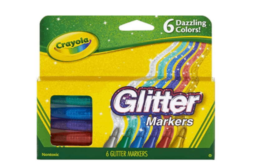 glitter markers: easter basket ideas for girls