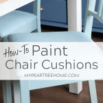 Painted Chair Cushions