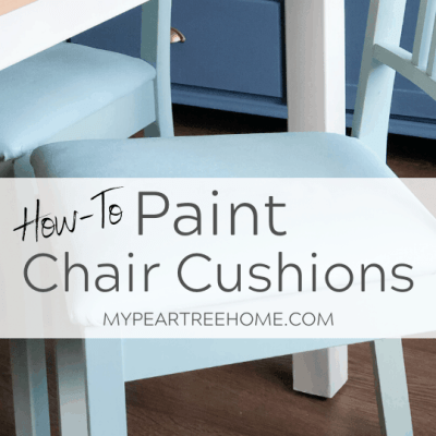 how to paint chair cushions