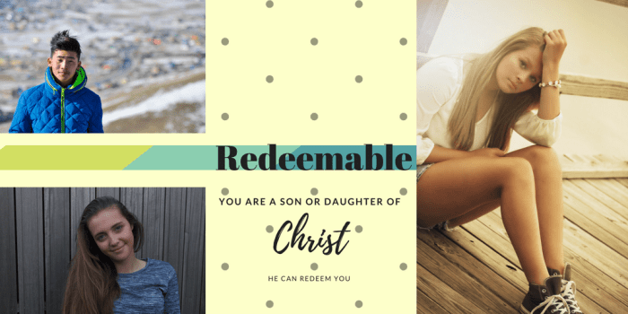 My testimony as a redeemed daughter of Christ