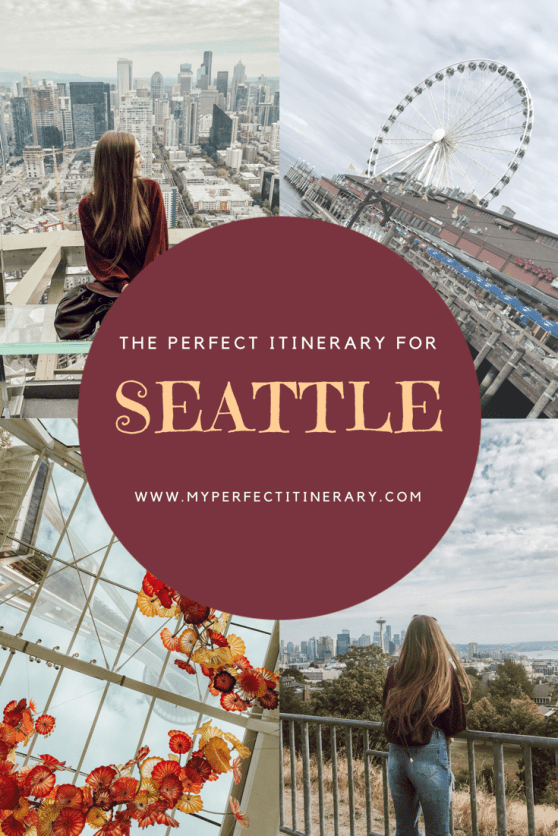 3 Day Seattle Itinerary including Pikes Place Market, Seattle Gum Wall, Kerry Park, Space Needle, Where to eat in Seattle, Best coffee in Seattle and more!