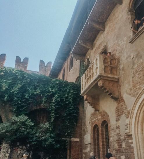 Romeo and Juliette's Balcony in Verona, Italy