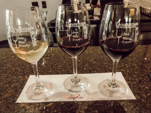 Wine Tasting at Downtown and Vine in Sacramento, California
