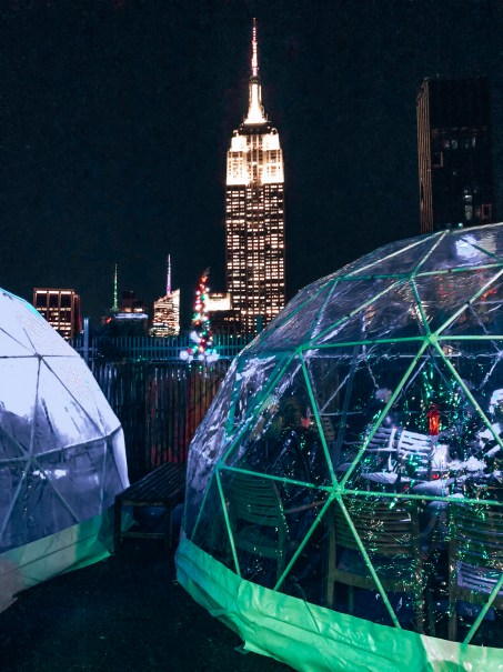 NYC 230 5th rooftop Bar with igloos