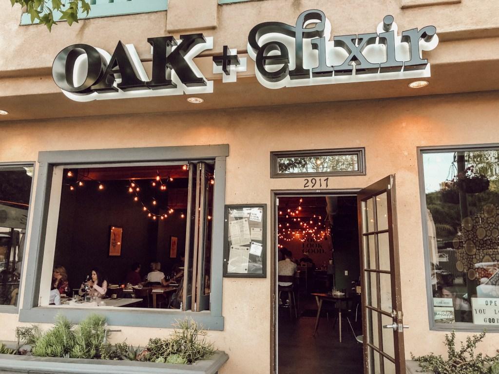 Oak + Elixir Wine Bar in The Village Carlsbad