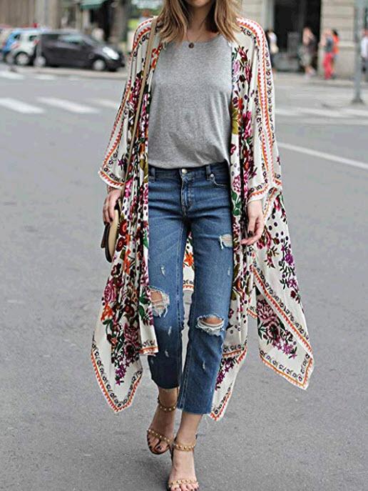 Kimono for beach travel
