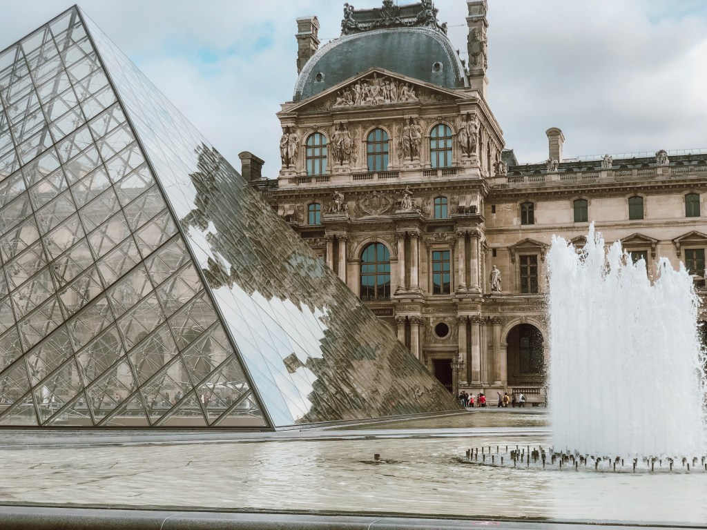 Visiting the Louvre museum in Paris France