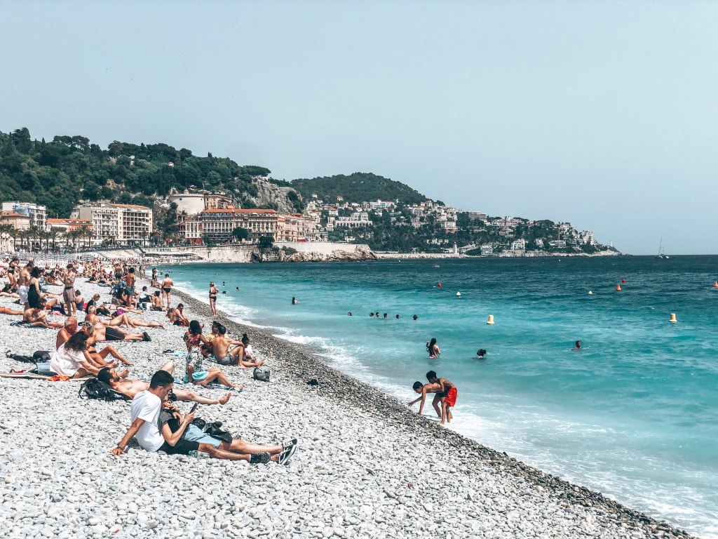 Nice Beach in the French Riviera