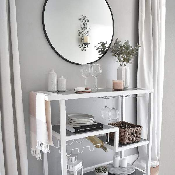 Bar cart essentials + styling