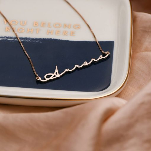 sterling silver signature cut out