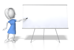 teaching classes at white board