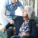 Care Worker Mistreating Elderly Woman