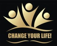 Change Your Life! black and gold logo