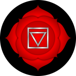 Red root chakra by Peter Lomas