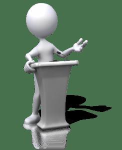 introducing speaker