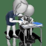 teacher helping a stuck student