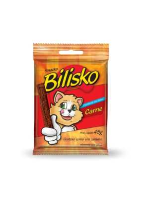 Barrinha Bilisko Gatos 45g Carne - 10 unidades