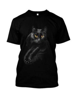 Camiseta Gato Preto Tradicional Preta Prime